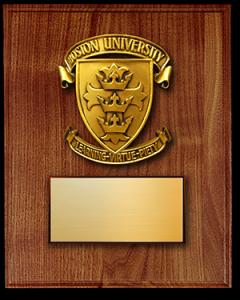 Boston University Plaque MD
