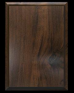Dark Wood No Plate Plaque MD