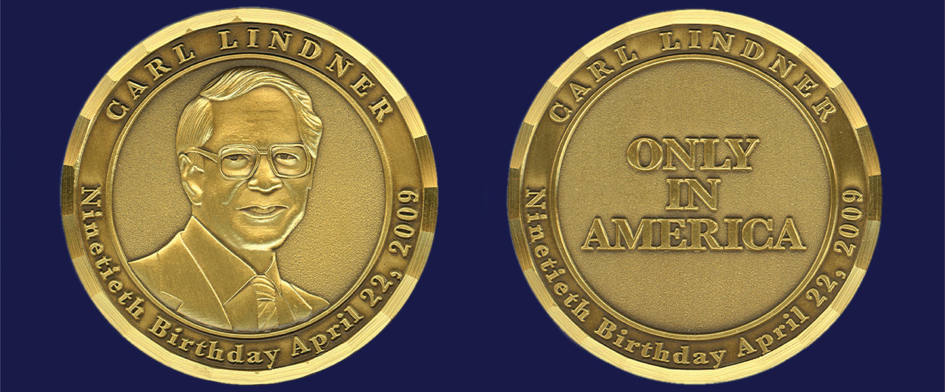 Lindner 90th Birthday Coin