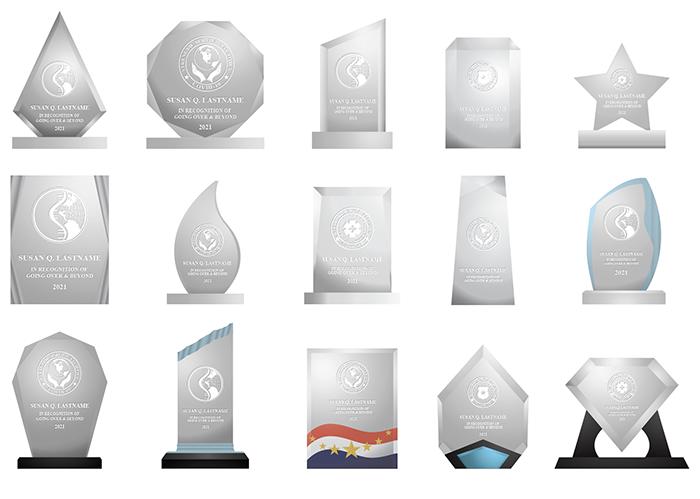 Acrylic Covid 19 Awards