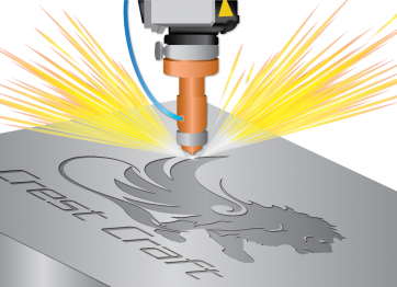 Illustration of Laser Engraving Metal