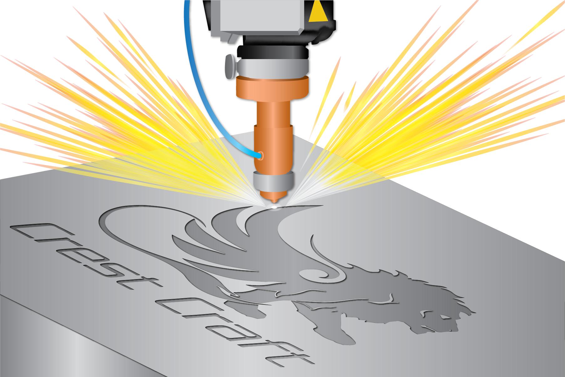 Illustration of Laser Engraving Metal